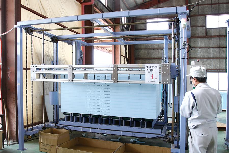 断熱材熱線カット機